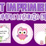 Kit Imprimible de Lechuza para Cumpleaños Niña