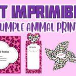 Kit Imprimible de Animal Print para Cumpleaños