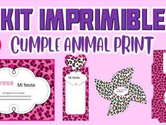 Kit Imprimible Animal Print MUESTRA