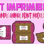Kit Imprimible de Animal Print Modelo 2 para Cumpleaños