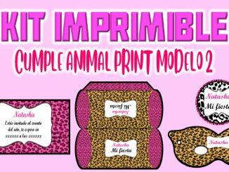 Kit Imprimible Animal Print modelo 2 muestra