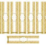 Kit Imprimible Boda dorado 11