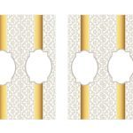 Kit Imprimible Boda fondo plateado 04
