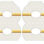 Kit Imprimible Boda fondo plateado 06