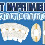 Kit Imprimible de Fondo Plateado para Boda