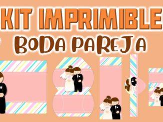 Kit Imprimible Boda pareja muestra