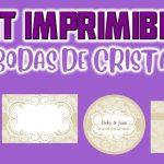 Kit Imprimible de Bodas de Cristal