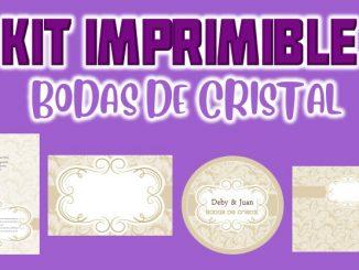 Kit Imprimible Bodas de cristal MUESTRA