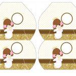 Kit Imprimible Comunion dorado nina 07