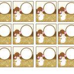 Kit Imprimible Comunion dorado nina 11