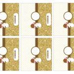 Kit Imprimible Comunion dorado nina 13