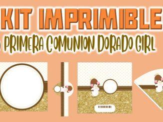 Kit Imprimible Comunion dorado nina MUESTRA