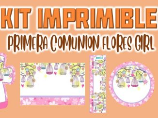 Kit Imprimible Comunion flores nina MUESTRA
