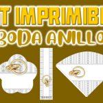 Kit Imprimible de Anillo para Boda