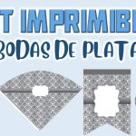 Kit Imprimible de Bodas de Plata