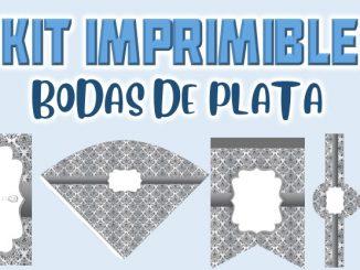 Kit Imprimible boda de plata MUESTRA