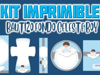 Kit Imprimible celeste bautizo nino MUESTRA