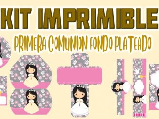 Kit Imprimible comunion Plateado nina MUESTRA