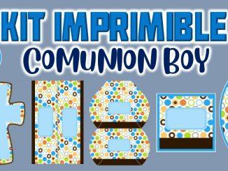 Kit Imprimible comunion boy MUESTRA