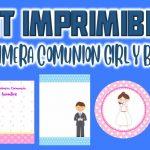 Kit Imprimible para Primera Comunión Niña y Niño