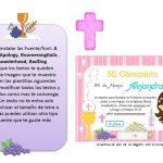 Kit Imprimible comunion fondo rosa nina 01