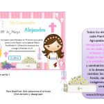 Kit Imprimible comunion fondo rosa nina 02