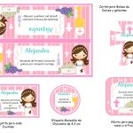 Kit Imprimible comunion fondo rosa nina 04
