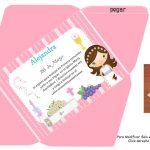 Kit Imprimible comunion fondo rosa nina 05