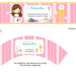 Kit Imprimible comunion fondo rosa nina 09