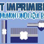 Kit Imprimible Azul para Primera Comunión Niño