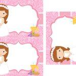 Kit Imprimible comunion rosado nina 01