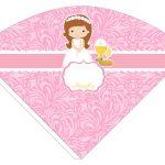 Kit Imprimible comunion rosado nina 03