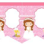 Kit Imprimible comunion rosado nina 04