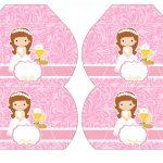 Kit Imprimible comunion rosado nina 08