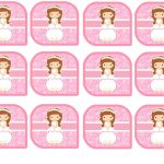 Kit Imprimible comunion rosado nina 09