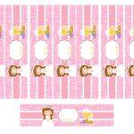 Kit Imprimible comunion rosado nina 10