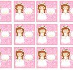 Kit Imprimible comunion rosado nina 11