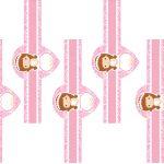 Kit Imprimible comunion rosado nina 12