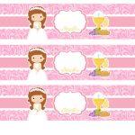 Kit Imprimible comunion rosado nina 14