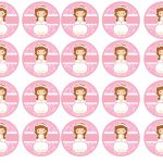 Kit Imprimible comunion rosado nina 15