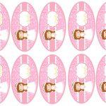 Kit Imprimible comunion rosado nina 16