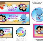 Kit Imprimible cumple Aladdin bebe 03
