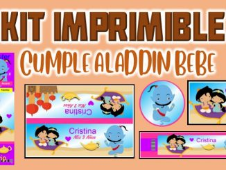 Kit Imprimible cumple Aladdin bebe MUESTRA