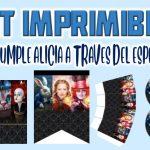Kit Imprimible de Alicia a través del Espejo para Cumpleaños