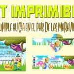 Kit Imprimible de Alicia en el País de las Maravillas para Cumpleaños