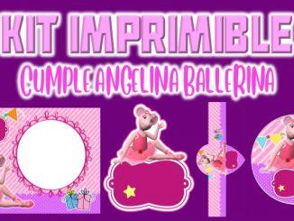 Kit Imprimible cumple Angelina Ballerina MUESTRA