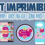Kit Imprimible Angelina Ballerina Modelo 2 para Cumpleaños