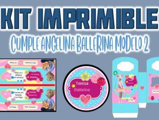 Kit Imprimible cumple Angelina Ballerina modelo 2 MUESTRA