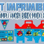 Kit Imprimible de Angry Birds Modelo 2 para Cumpleaños