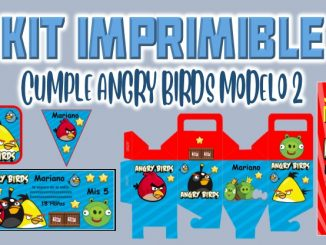Kit Imprimible cumple Angry Birds Modelo 2 MUESTRA